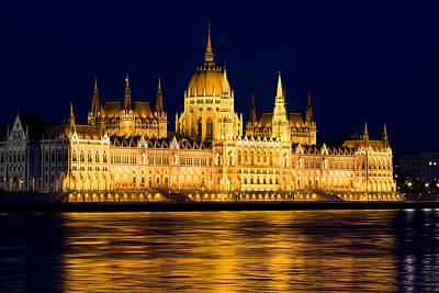 Budapest Parliament At Night Print by Artur Bogacki