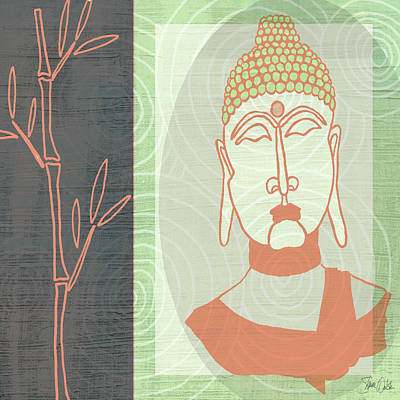 Lime Painting - Buddha 2 by Shanni Welsh