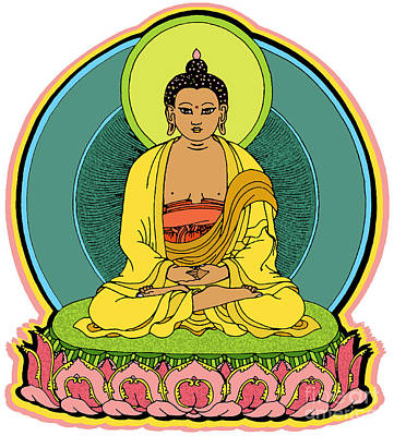 Stanley Slaughter Digital Art - Buddha Blessings by Sol Sketches