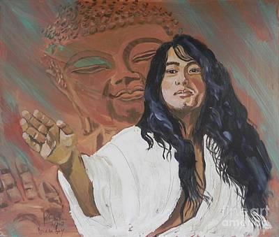 Sangha Painting - Buddha Boy by Jolanta Shiloni