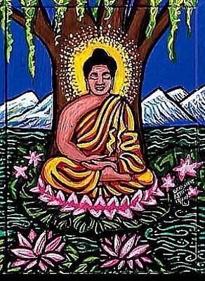 Landscape-like Art Painting - Buddha by Genevieve Esson
