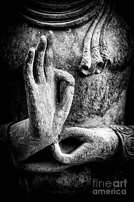 Thoughtful Photograph - Buddha Hand Mudra by Tim Gainey