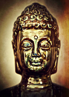 Buddha Head Print by The  Vault - Jennifer Rondinelli Reilly