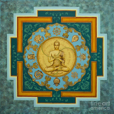 Tibetan Buddhism Painting - Buddha. Jewels Of Dharma by Yuliya Glavnaya