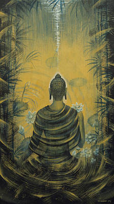 Celestial Painting - Buddha. Presence by Vrindavan Das