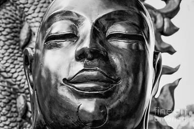 Contemplative Photograph - Buddha Smile by Dean Harte