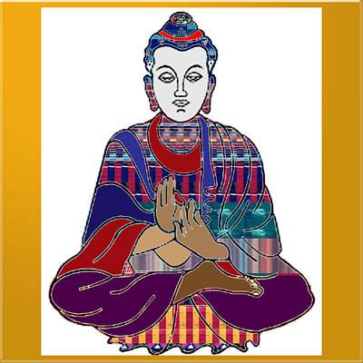 Social Issues Painting - Buddha Spirit Humanity Buy Faa Print Products Or Down Load For Self Printing Navin Joshi Rights Mana by Navin Joshi