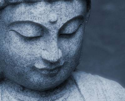 Statue Portrait Photograph - Buddha Statue by Dan Sproul