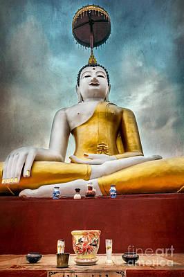 Incense Photograph - Buddha Thailand by Adrian Evans