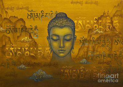 Tibetan Buddhism Painting - Buddha. The Message by Yuliya Glavnaya