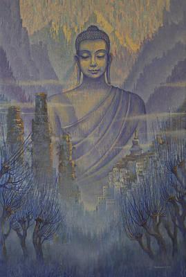 Buddha. Valley Of Silence Print by Vrindavan Das