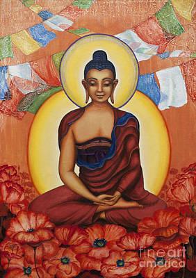 Tibetan Buddhism Painting - Buddha by Yuliya Glavnaya