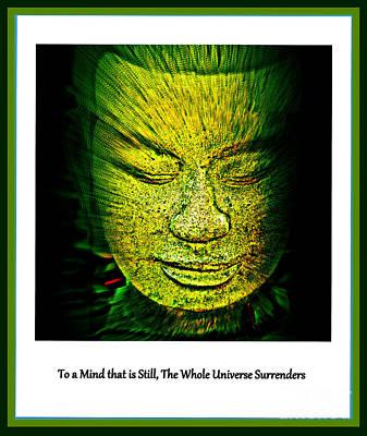 Buddhas Mind II Print by Susanne Van Hulst
