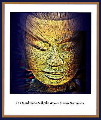 Buddhas Mind Print by Susanne Van Hulst