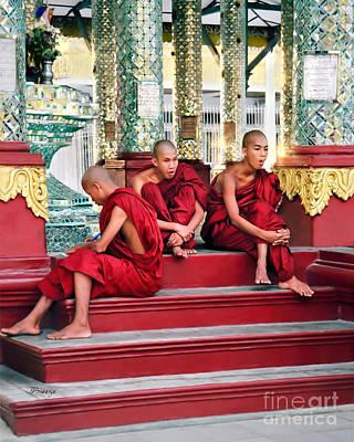 Sangha Photograph - Buddhist In Burma by Jennie Breeze
