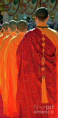 Buddhist Monks Print by Rick Piper Photography
