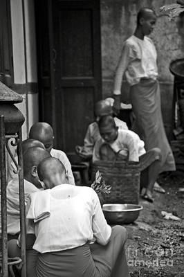 Buddhist Nuns In A Monastery Print by RicardMN Photography