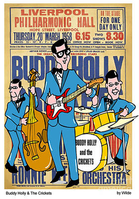 Cricket Mixed Media - Buddy Holly And The Crickets In The Uk by Paul Wilde