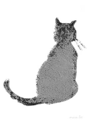 Gray Tabby Digital Art - Gray Tabby Cat by Mara Lee