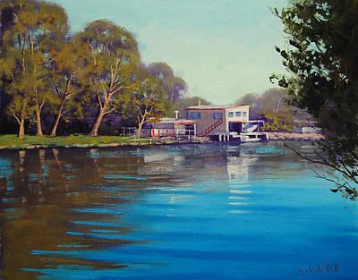 Impressionist Creek Oil Painting - Budgewoi Creek by Graham Gercken