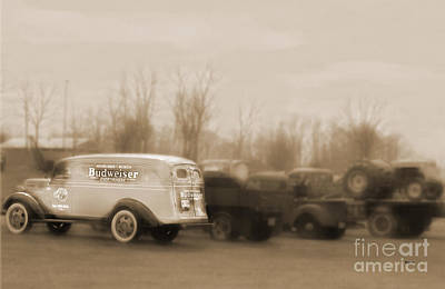 Old Trucks Digital Art - Budweiser Everywhere  by Steven  Digman
