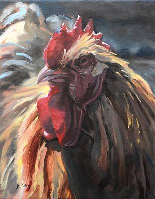 Buff Orpington Cockerel Original by Donna Tuten