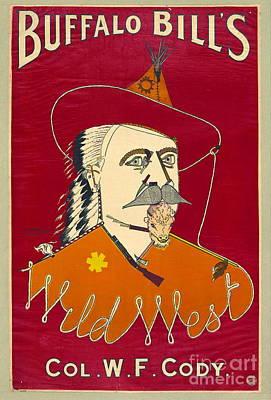 Ritchie Photograph - Buffalo Bill Advertisement 1890 by Padre Art