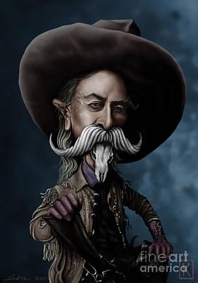 Buffalo Drawing - Buffalo Bill by Andre Koekemoer