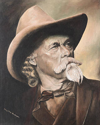 Rugged Painting - Buffalo Bill Cody by Mary Ellen Anderson