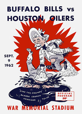 Buffalo Bills 1962 Program Print by Big 88 Artworks
