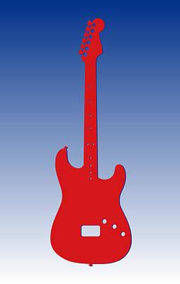 Guitar Photograph - Buffalo Bills Guitar by Joe Hamilton