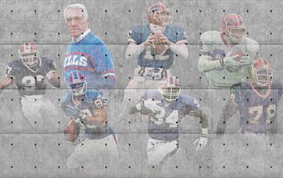 Buffalo Bills Legends Print by Joe Hamilton