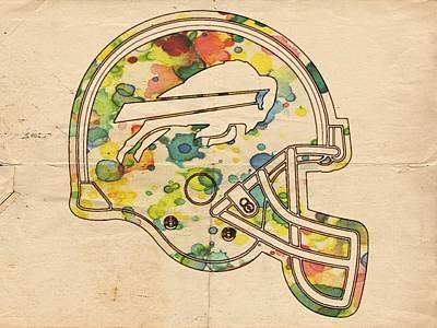 Buffalo Painting - Buffalo Bills Poster Art by Florian Rodarte
