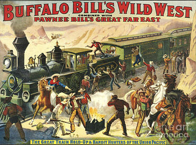 Nineteen-tens Drawing - Buffalo Bill�s Wild West Show  1907 by The Advertising Archives