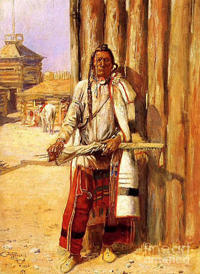 U.s.pd Painting - Buffalo Coat By Charles Russell by Pg Reproductions