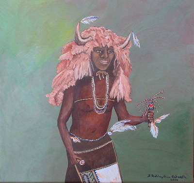 Indian Tribal Art Painting - Buffalo Dancer by S AshleyAnn Goforth