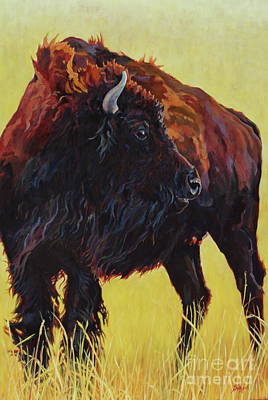 Buffalo Girl Print by Patricia A Griffin