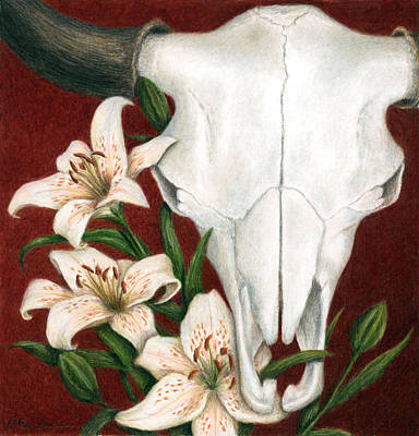 Colored Pencil Painting - Buffalo Lilies by Pat Erickson
