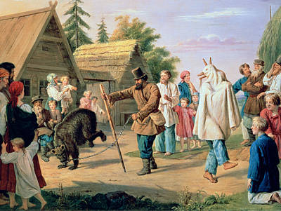 Fool Painting - Buffoons In A Village by Francois Nicholas Riss