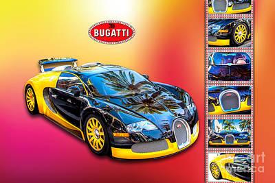 Bugatti - Dream Car Print by Az Jackson