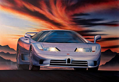 Bugatti Print by Garry Walton