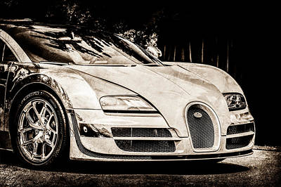 Special Edition Photograph - Bugatti Legend - Veyron Special Edition -0844s by Jill Reger