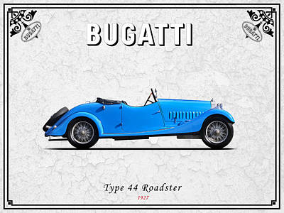 Bugatti Vintage Car Photograph - Bugatti Type 44 1927 by Mark Rogan