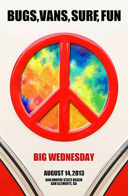 At Poster Digital Art - Bugs Vans Surf Fun by Ron Regalado