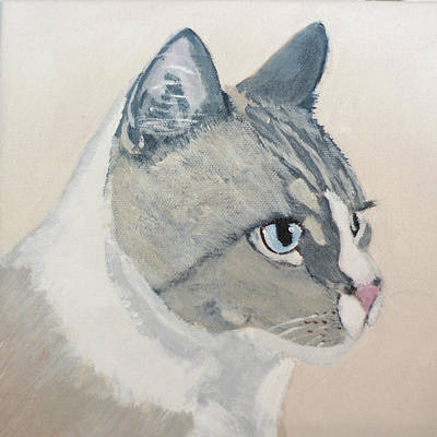 Cat Painting - Bugsy by Lou Belcher