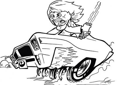 Drawing - Buick Skylarker by Big Mike Roate