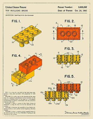 Retro Art Digital Art - Building Bricks by Jazzberry Blue