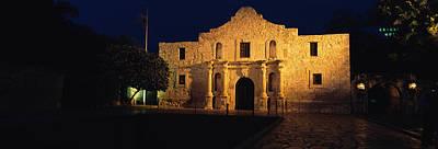 Entrance Memorial Photograph - Building Lit Up At Night, Alamo, San by Panoramic Images