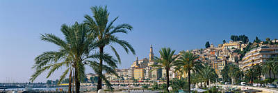 Menton Photograph - Building On The Waterfront, Menton by Panoramic Images