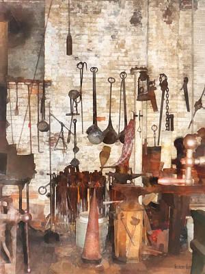 Building Trades - Hand Tools In Machine Shop Print by Susan Savad